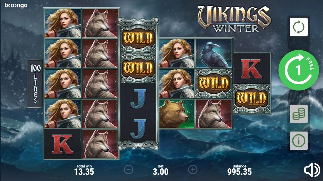 Бесплатный игровой автомат Vikings Winter