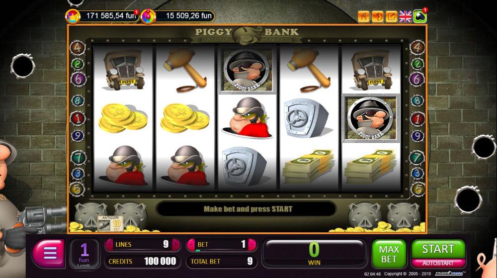 играть в игровые автоматы piggy bank