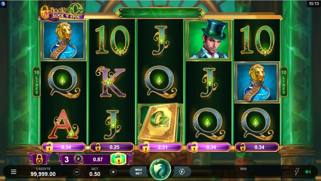 Book of Oz Lock 'N Spin бесплатный игровой автомат