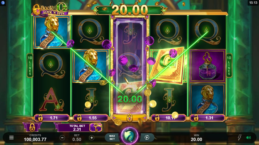 Онлайн слот Book of Oz Lock 'N Spin