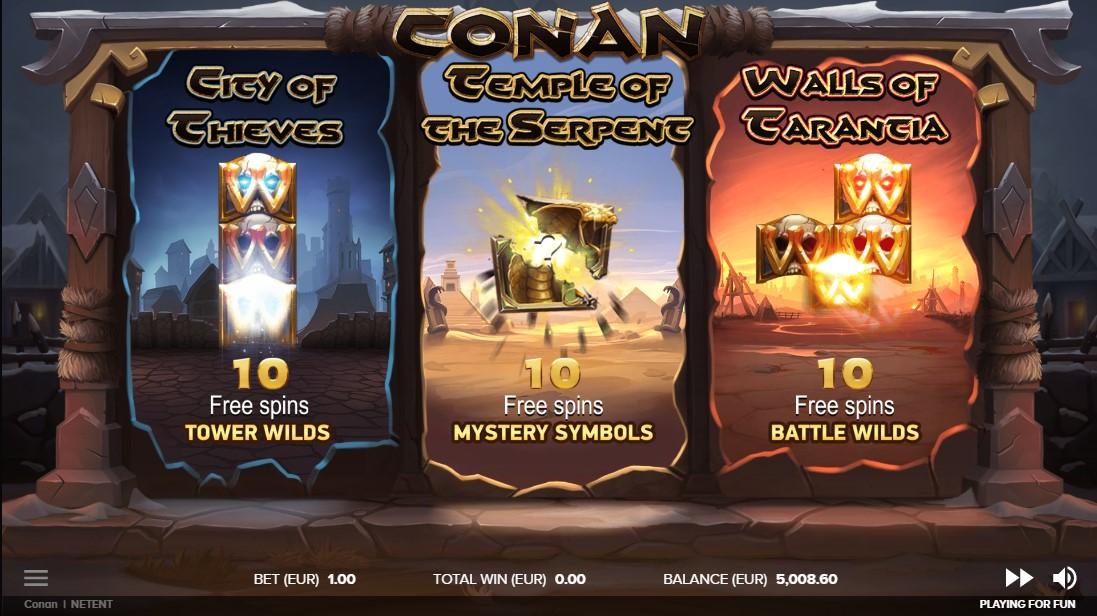 Бесплатный слот Conan