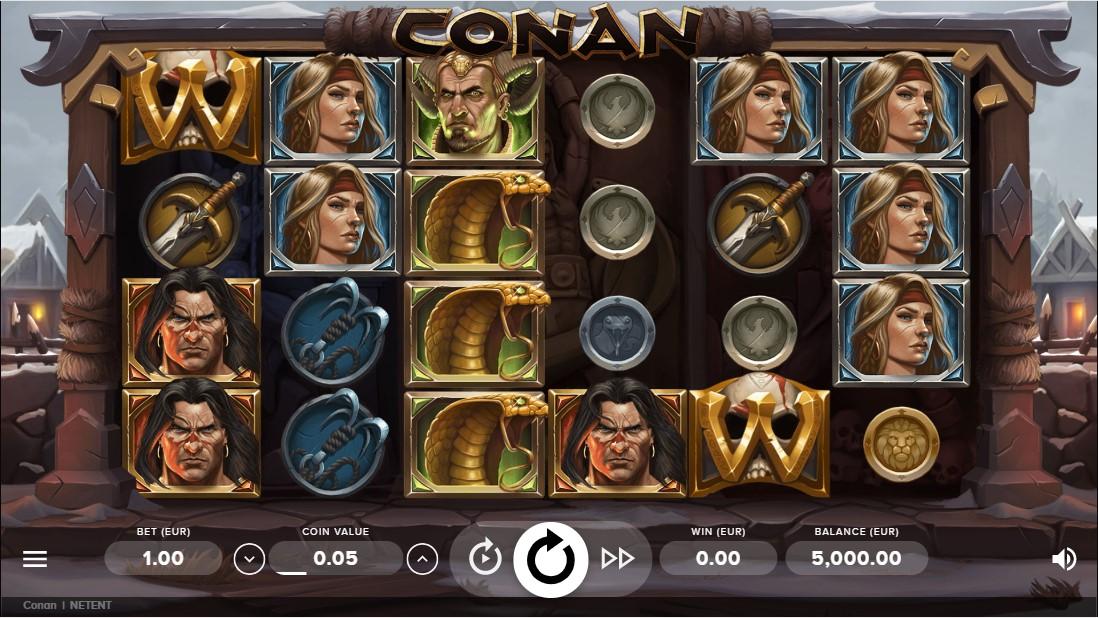 Conan бесплатный слот