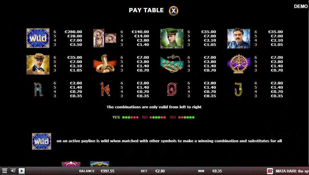 Онлайн слот Mata Hari The Spy играть бесплатно