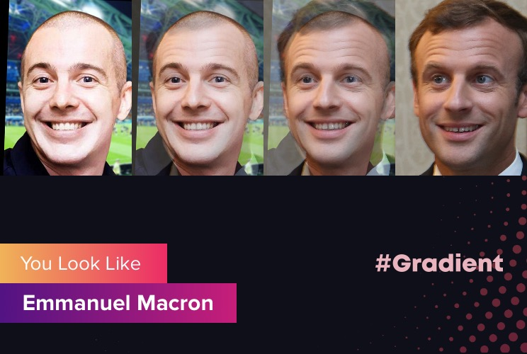 Karssen Gradient Emmanuel Macron