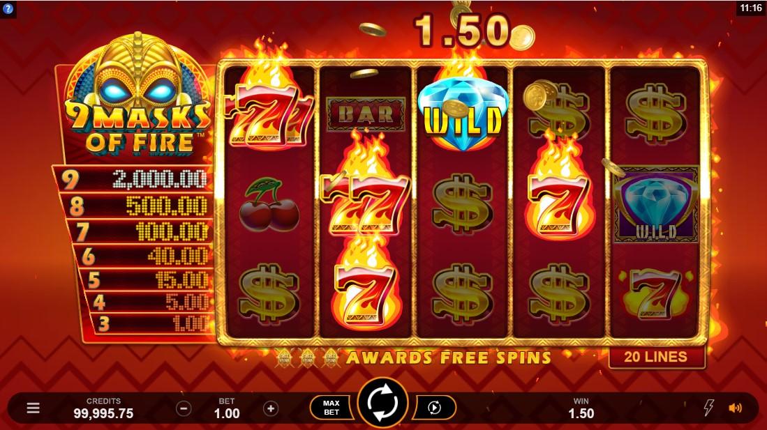 9 Masks Of Fire игровой автомат