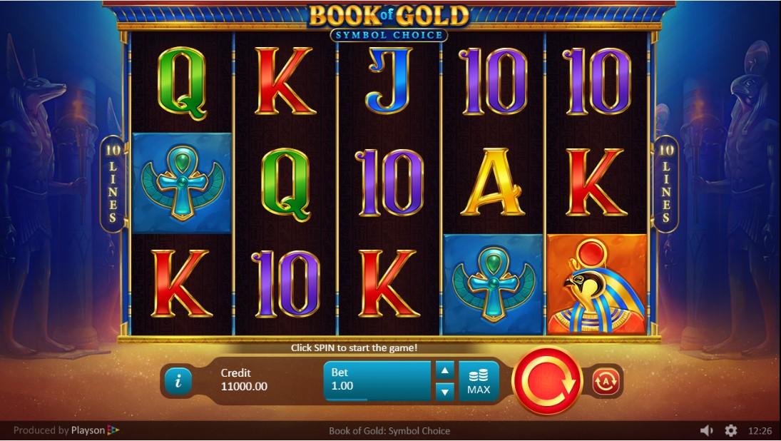 Онлайн слот Book of Gold Symbol Choice