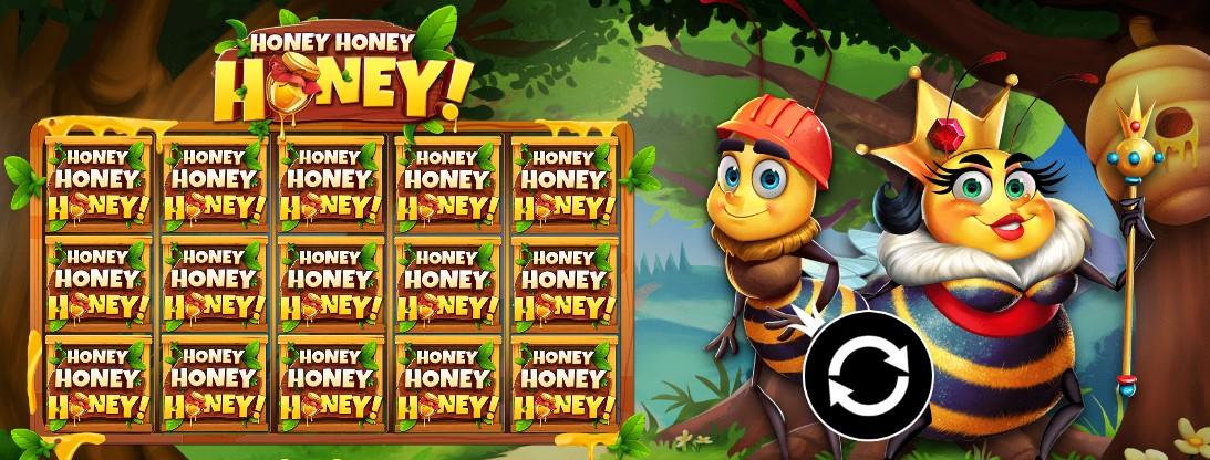 Играть Honey Honey Honey лого