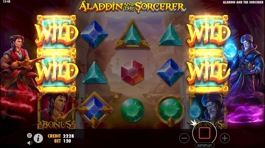Игровой автомат Aladdin и Sorcerer