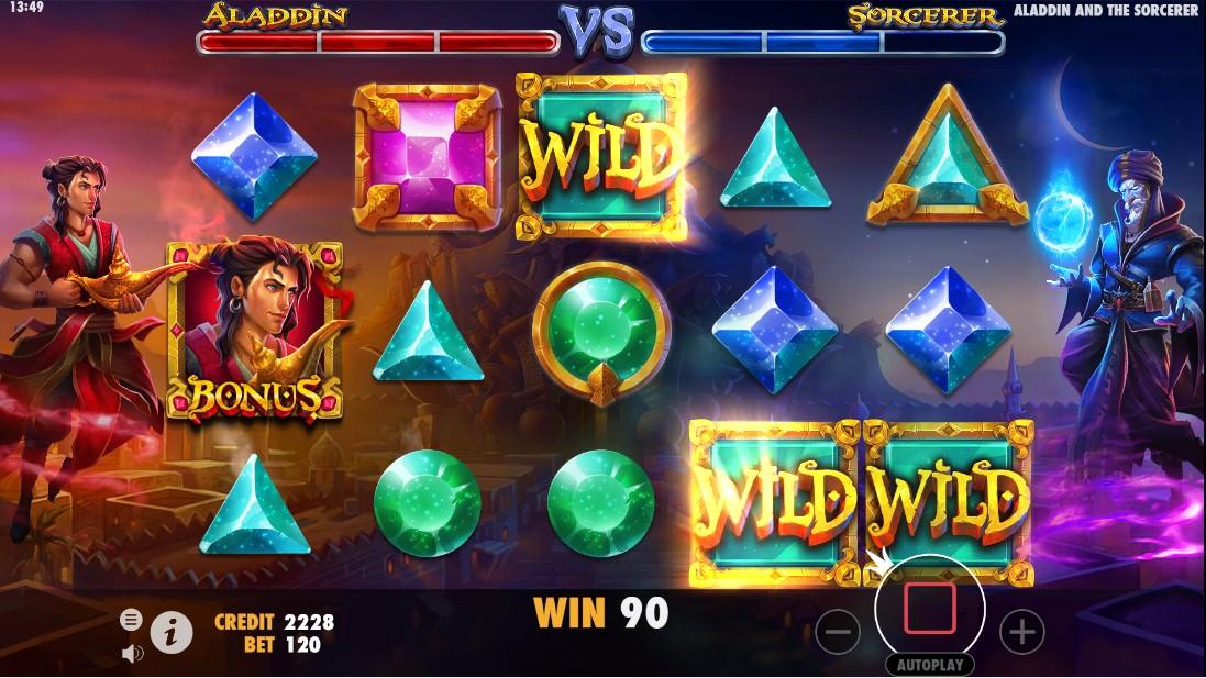 Онлайн слот Aladdin и Sorcerer