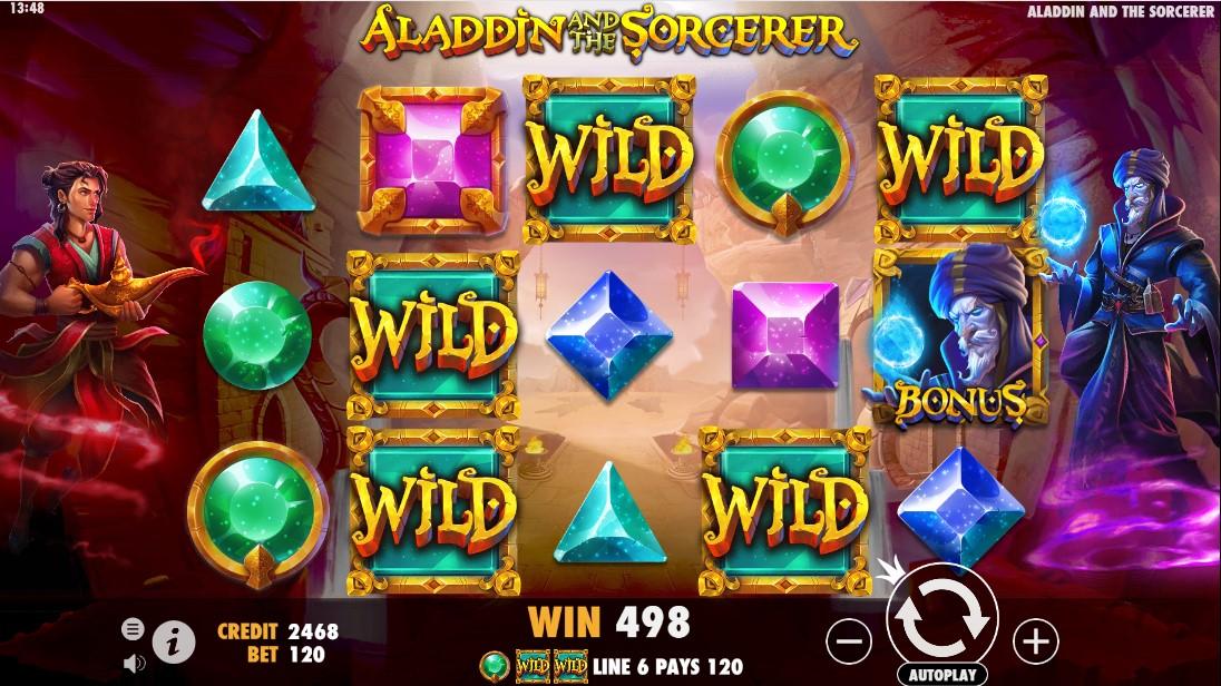 Бесплатный слот Aladdin и Sorcerer