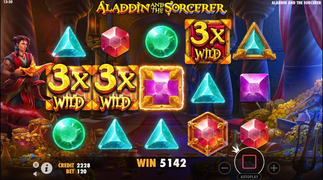 лот Aladdin и Sorcerer играть