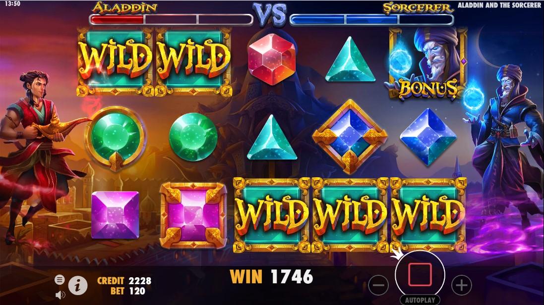 Aladdin и Sorcerer играть бесплотно
