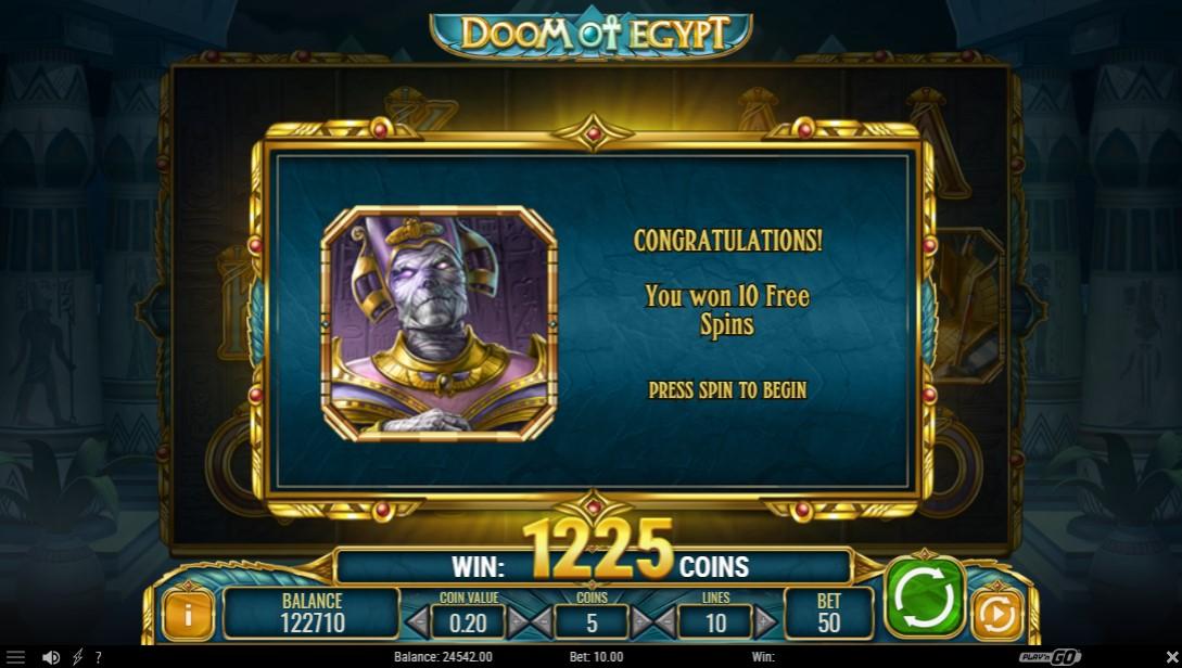 Онлайн слот Doom of Egypt