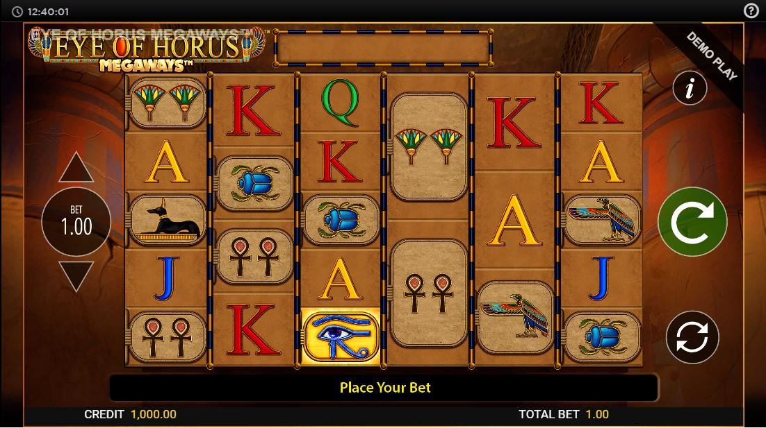 Бесплатный игровой автомат Eye of Horus Megaways