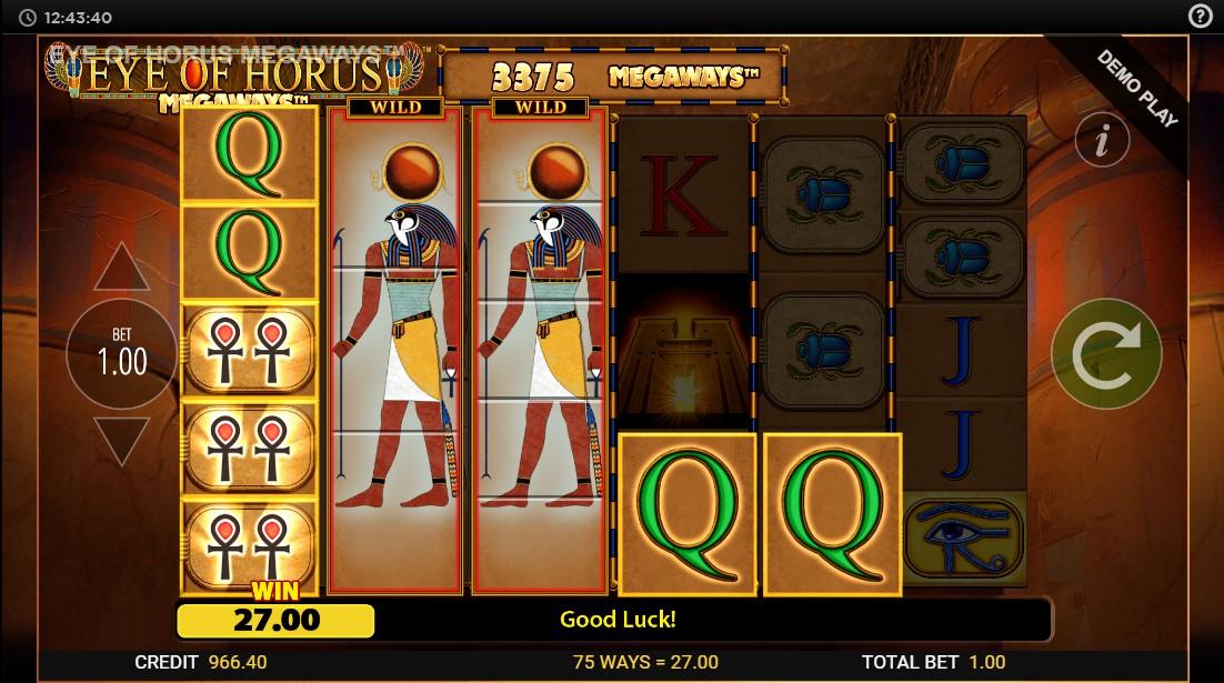 Слот Eye of Horus Megaways играть бесплатно