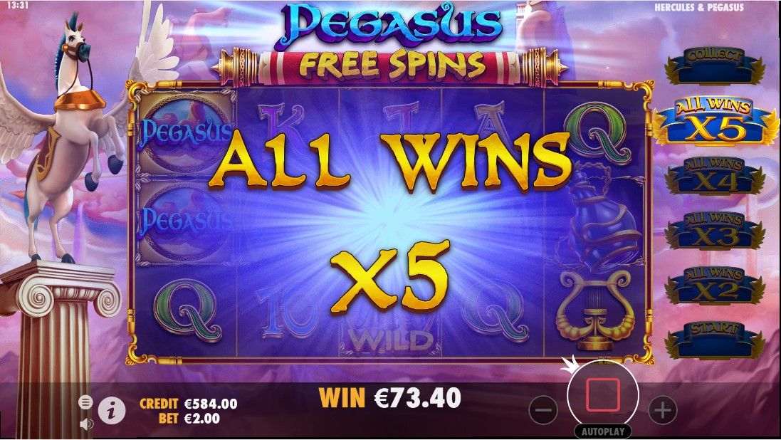 Бесплатный игровой автомат Hercules & Pegasus