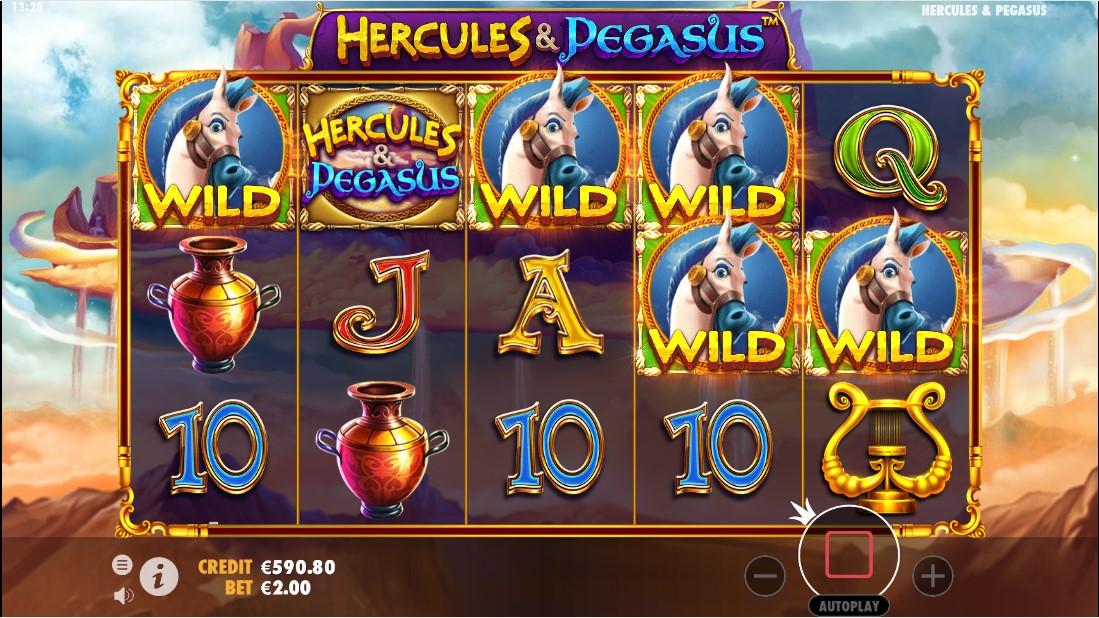 Онлайн слот Hercules & Pegasus