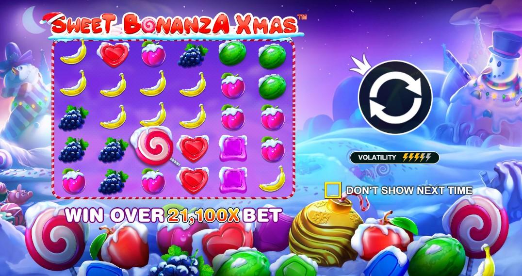 Играть Sweet Bonanza Xmas бесплатно