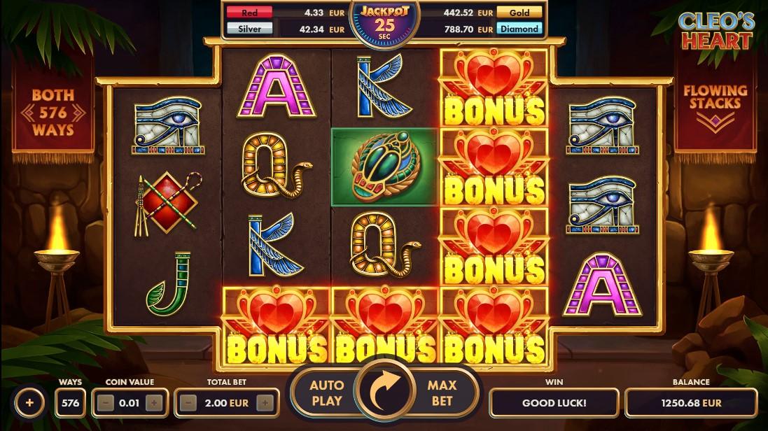 Юесплатный игровой автомат Cleo's Heart