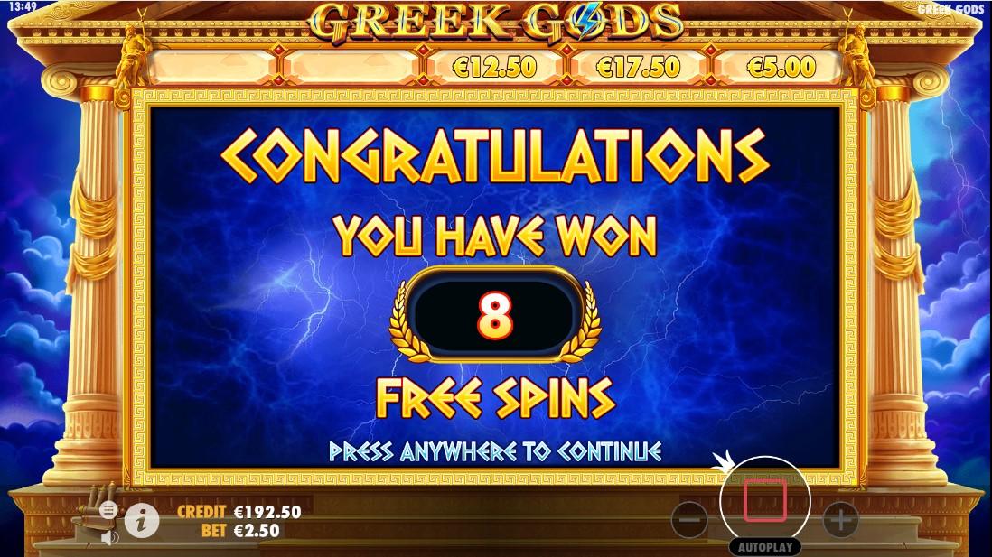 Бесплатный игровой автомат Greek Gods