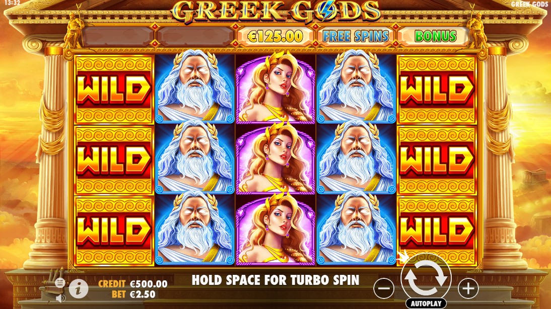 Онлайн слот Greek Gods играть бесплатно