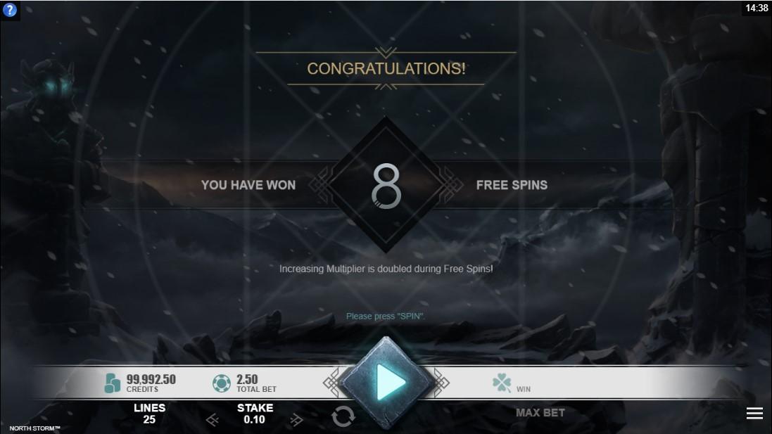 Слот North Storm играть онлайн