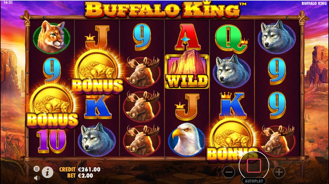 Играть онлайн в слот Buffalo King