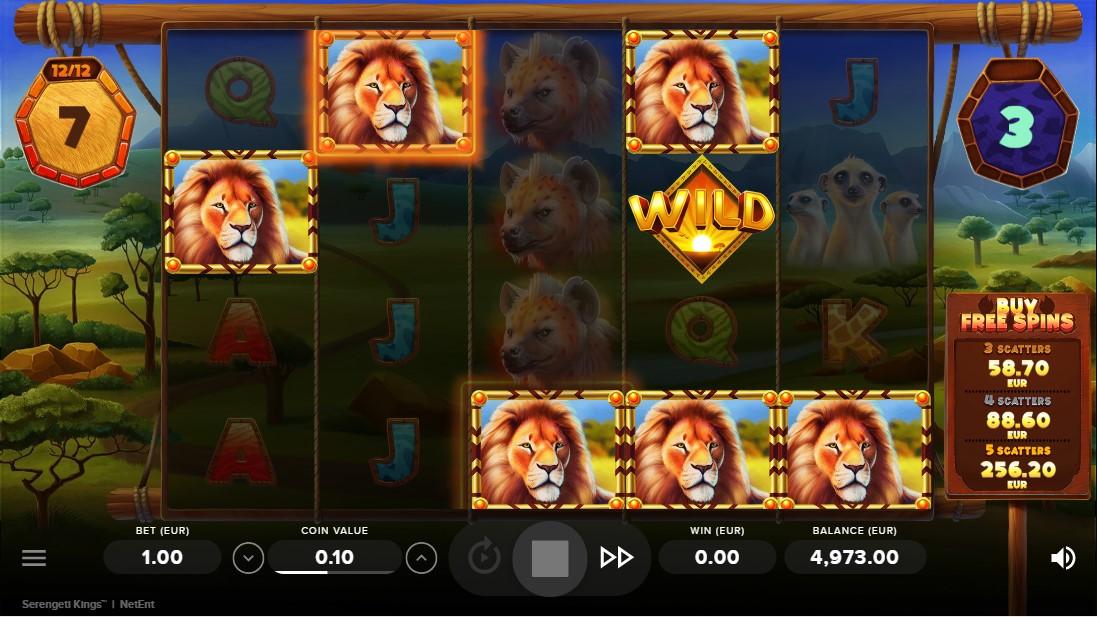 Слот Serengeti Kings играть онлайн
