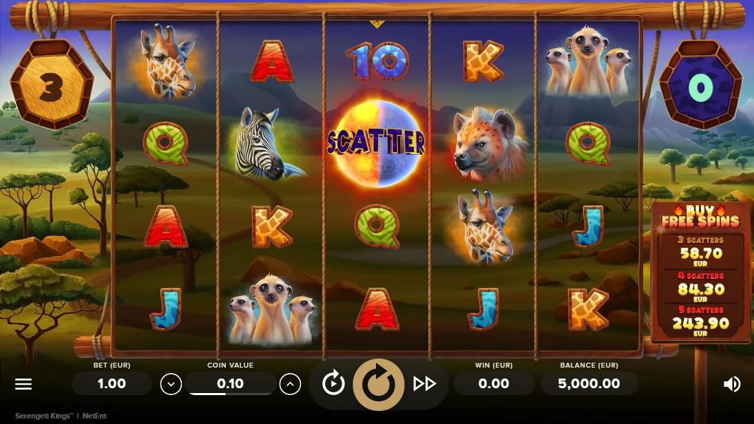 Игровой автмомат Serengeti Kings играть бесплатно