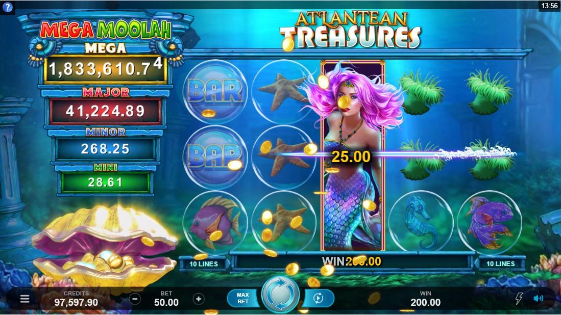 Онлайн слот Atlantean Treasures Mega Moolah