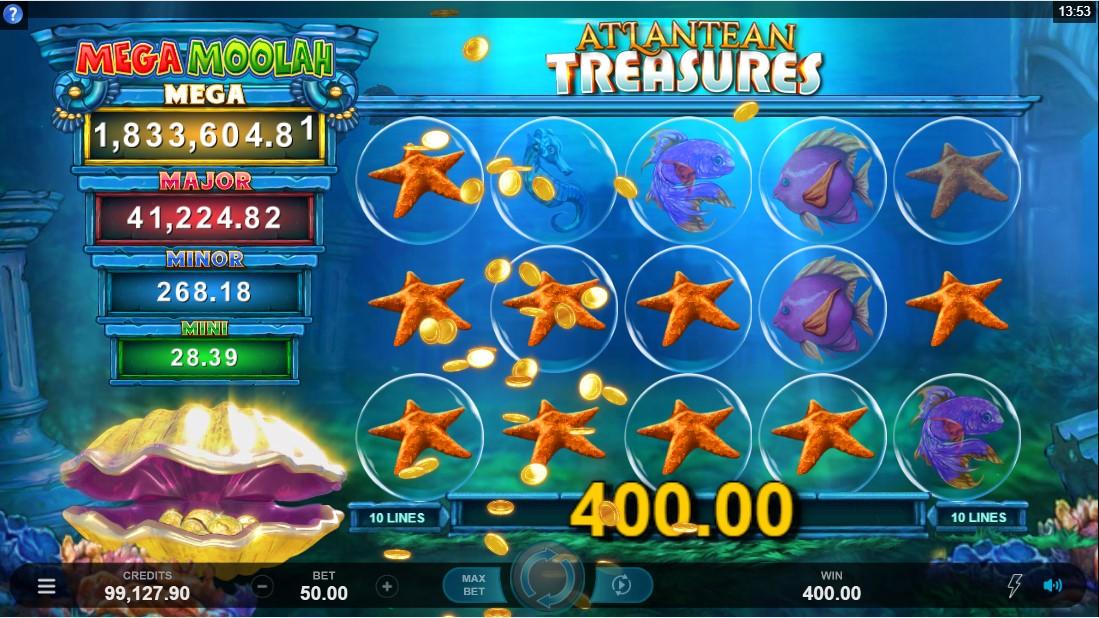 Бесплатный слот Atlantean Treasures Mega Moolah