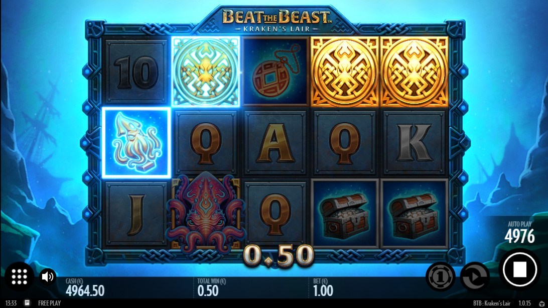 Бесплатный слот Beat the Beast Kraken's Lair