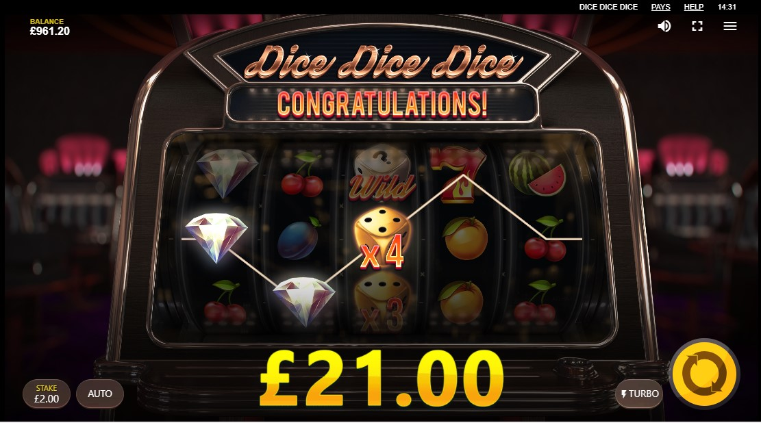 Слот Dice Dice Dice играть онлайн
