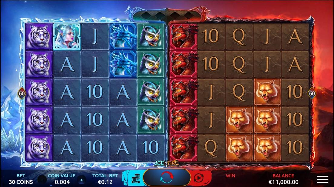 Игровой автмоат Ice and Fire играть бесплатно