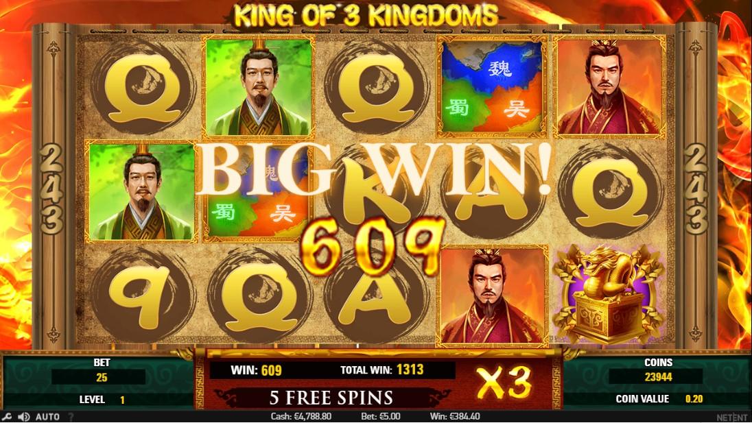 Игровой автомат King of 3 Kingdoms
