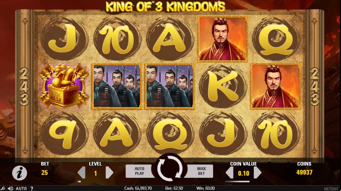 Игровой автомат King of 3 Kingdoms играть онлайн