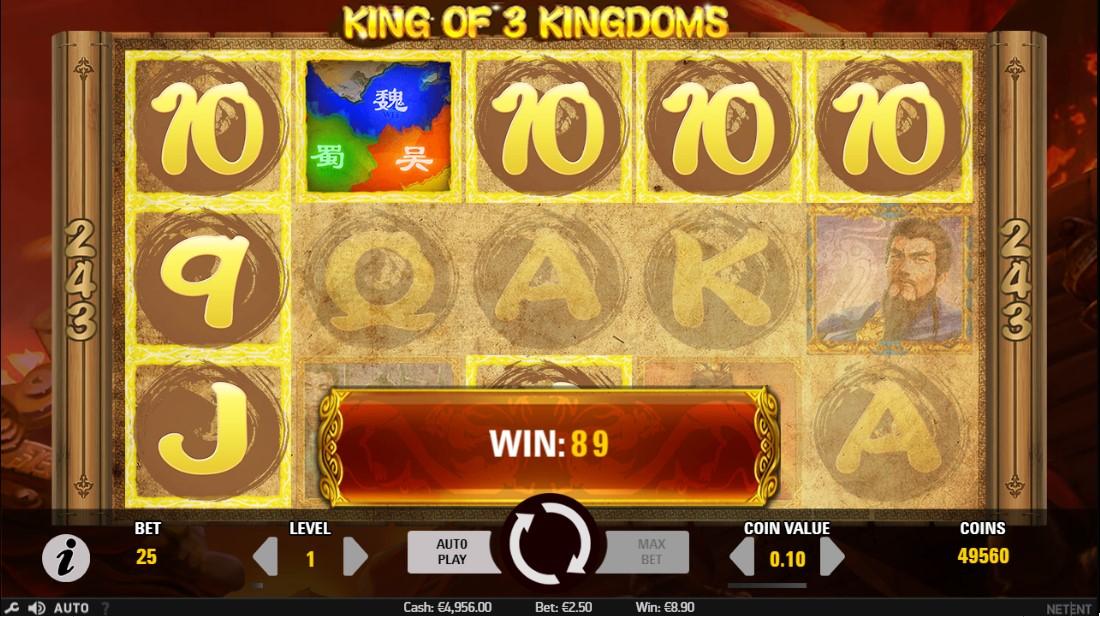 Бесплатный слот King of 3 Kingdoms