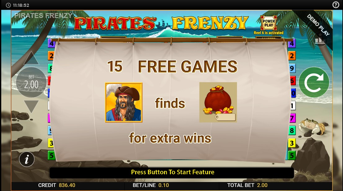 Онлайн слот Pirates Frenzy