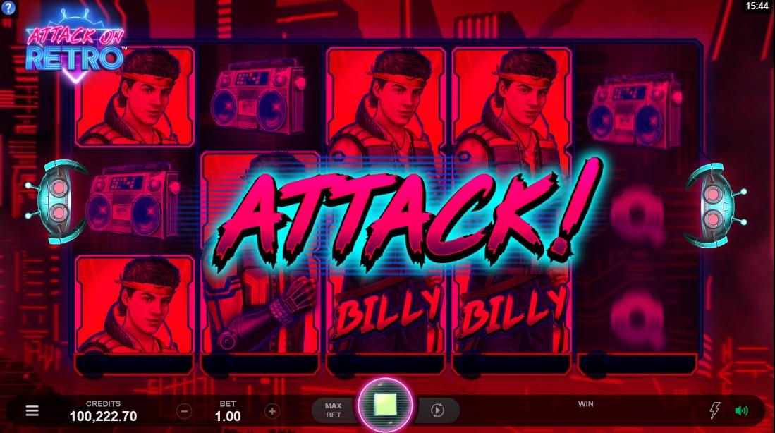 Слот Attack on Retro играть бесплатно