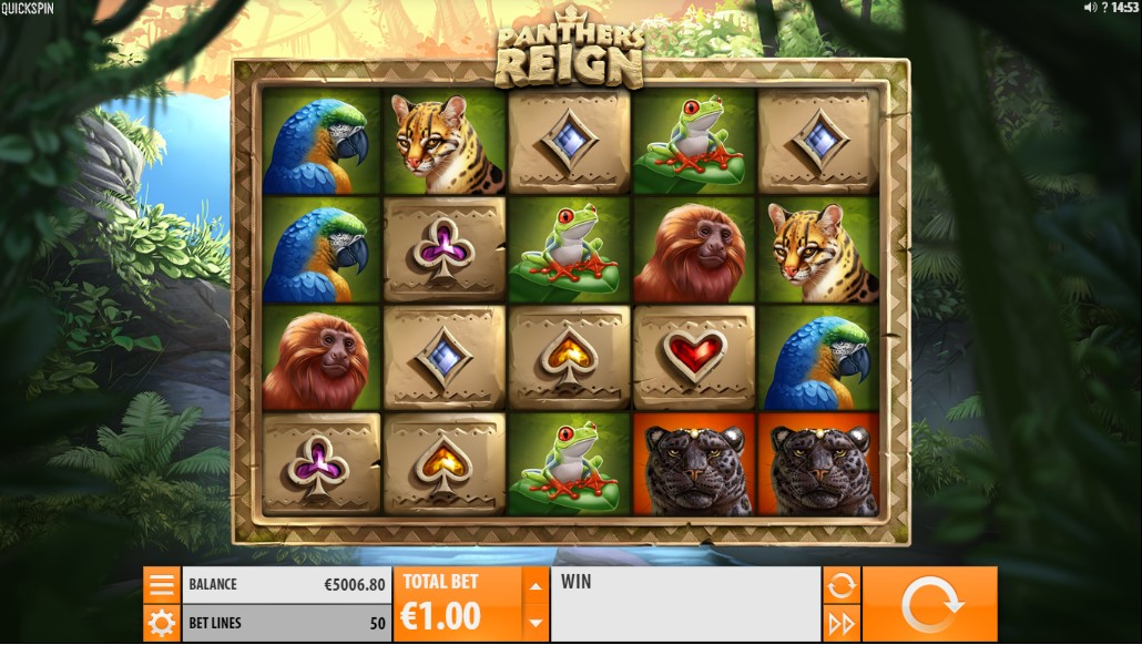 Panther Reign's игровой автомат