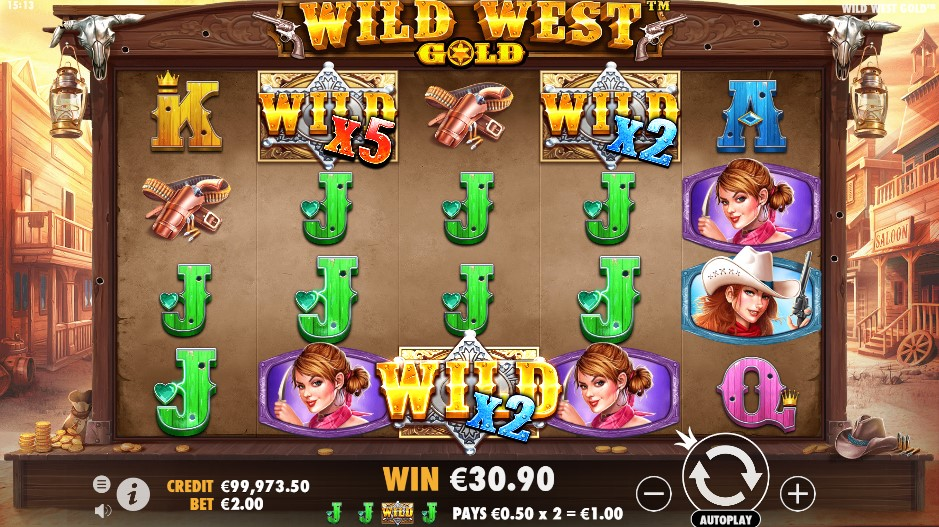 Слот Wild West Gold играть