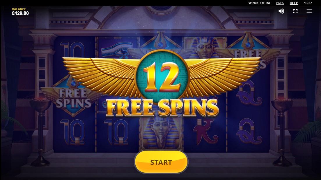 Онлайн слот Wings of Ra
