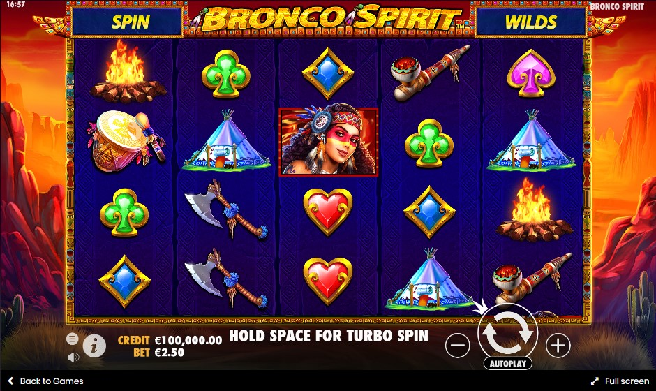 Bronco Spirit слот играть бесплатно