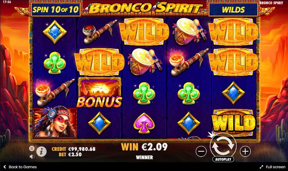 Бесплатный игровой автомат Bronco Spirit