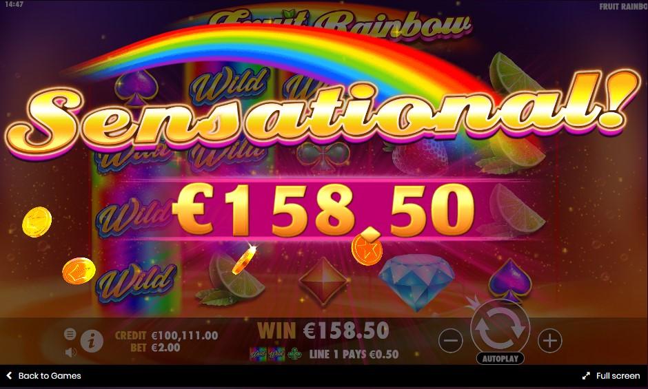 Онлайн слот Fruit Rainbow