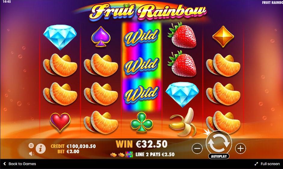 Онлайн слот Fruit Rainbow играть