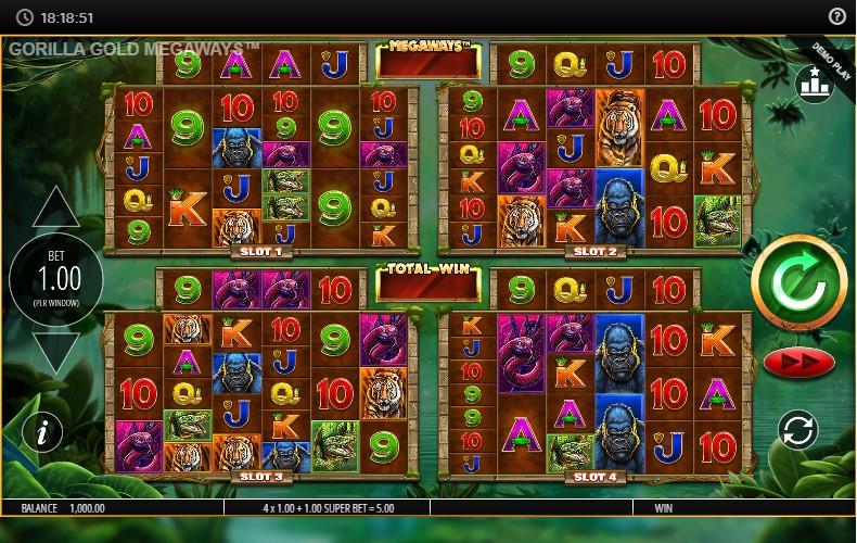 Слот Gorilla Gold Megaways играть бесплатно