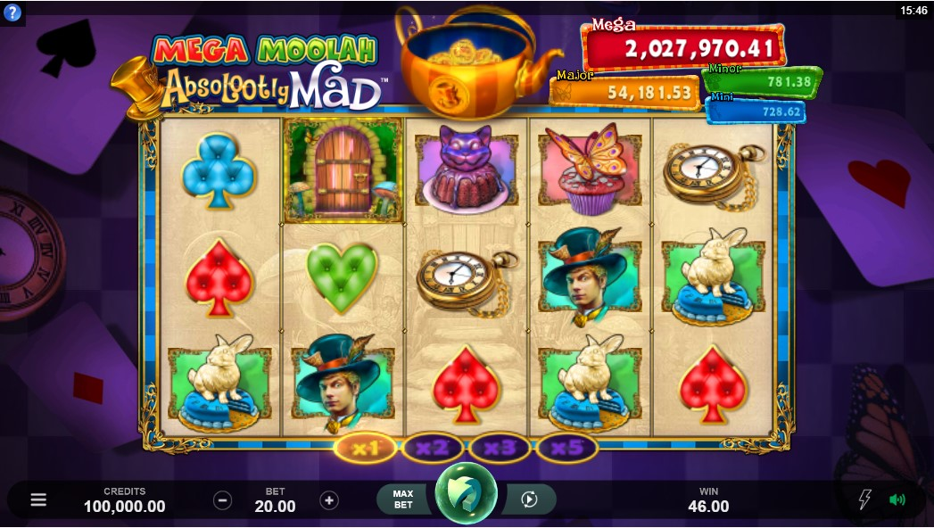 Слот Absolootly Mad Mega Moolah играть онлайн