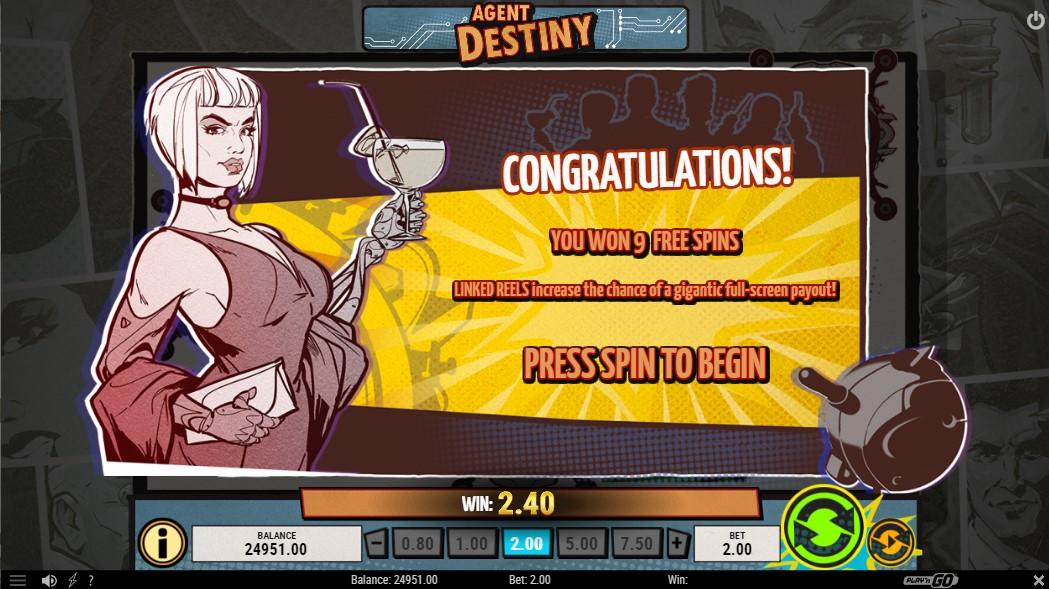 Игровой автомат Agent Destiny