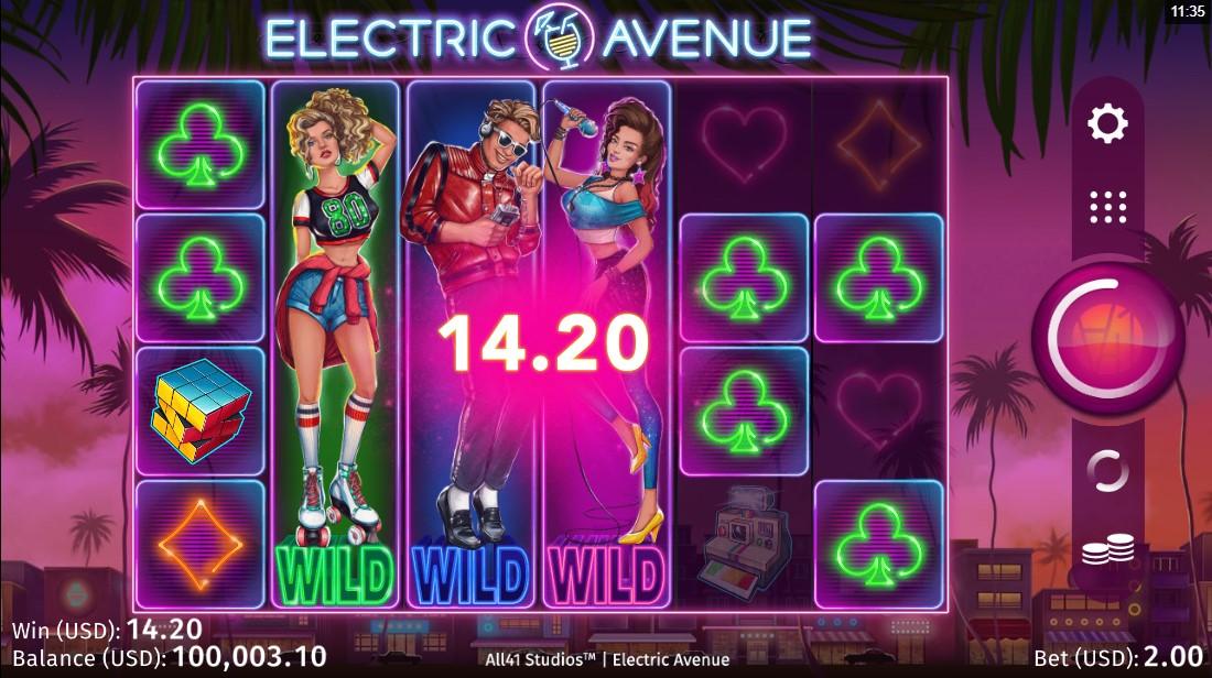 Онлайн слот Electric Avenue